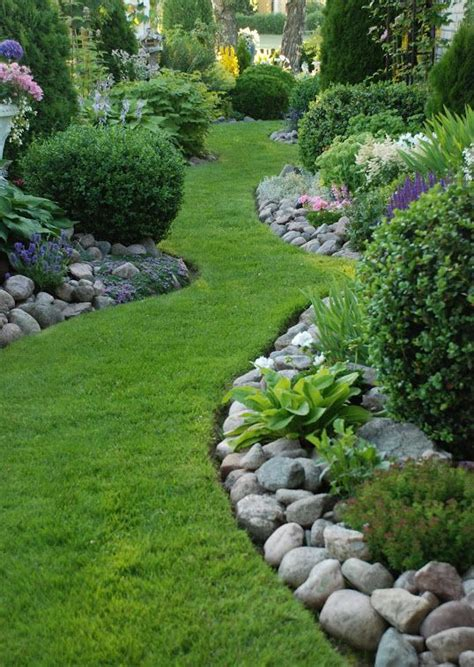 Landscape Edging With Boulders Interesting Paths And Walk Ways Gardens Garden Borders