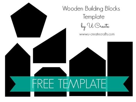 Wooden Building Block Set Free Template Templates Pinterest Building Blocks Template