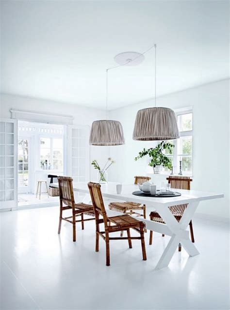 all white dining room the dining room