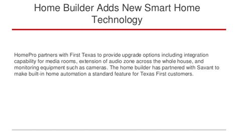 latest smart home technology home builder adds new smart home technology