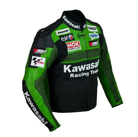 kawasaki jacket kawasaki original green racing team leather motorcycle jacket