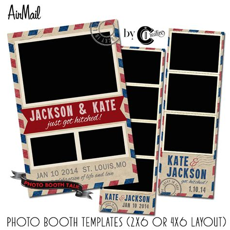 photo booth template airmail photo booth templates jpg