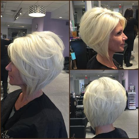 angled bob how tp fix layered angled bob by gia platinum blonde by