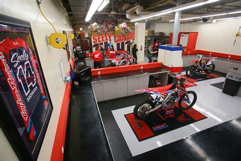 who wants a peek inside the team honda hrc race shop