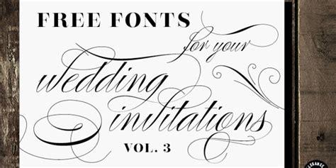 Wedding Font Dl by Free Fonts For Diy Wedding Invitations Volume 3