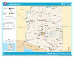 template location map usa arizona