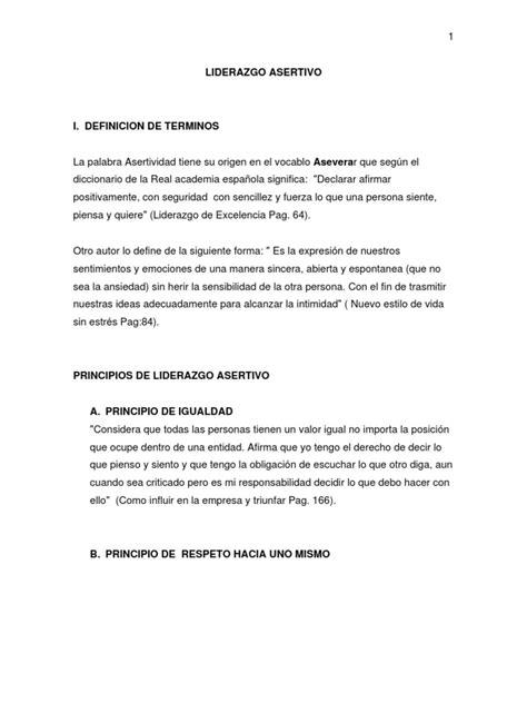 el liderazgo asertivo | Liderazgo | Liderazgo y tutoría