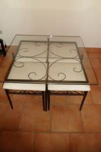 table basse verre fer forg 233 occasion clasf
