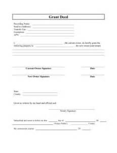 Printable grant deed legal pleading template