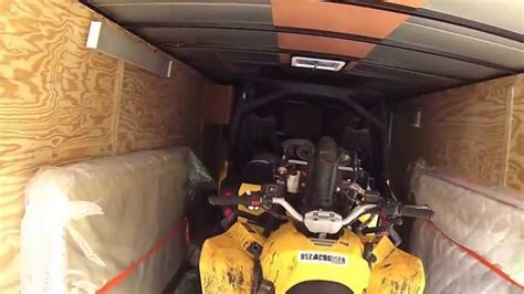 Enclosed trailer build for ATV riders part 1   YouTube