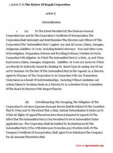 business bylaws template bylaws template executive employment agreement template