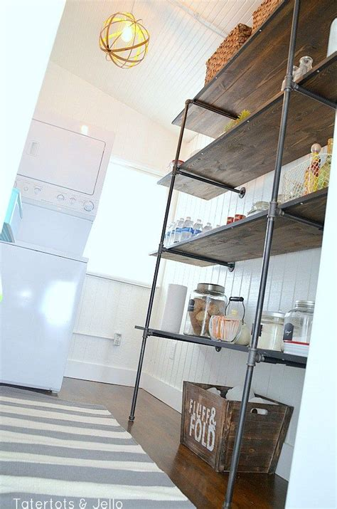 super easy industrial shelving diy lowescreator pantry