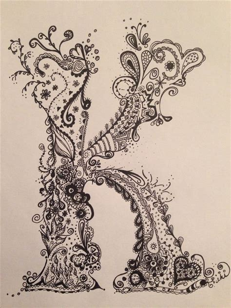 Letter K Sketches by 25 Best Ideas About Doodle Letters On