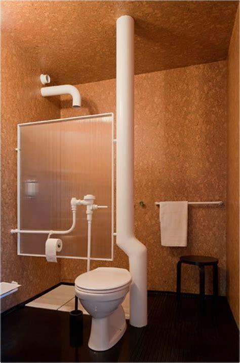 exposed bathroom plumbing in switzerland minimalism and industrialism