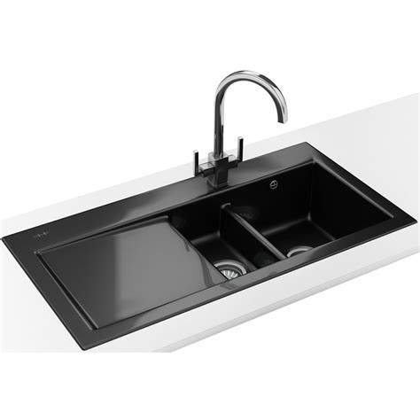 Black Kitchen Sinks And Taps Franke Mythos Designer Pack Mtk 651 Ceramic Black Sink And Tap 124 0050 123