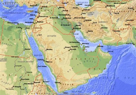middle east map deserts middle eastern deserts map www pixshark images