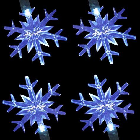 led snowflake lights string set northern lights and trees
