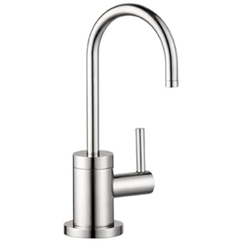 hans grohe kitchen faucets hansgrohe talis s lever faucet in steel optik 04301800 the home depot