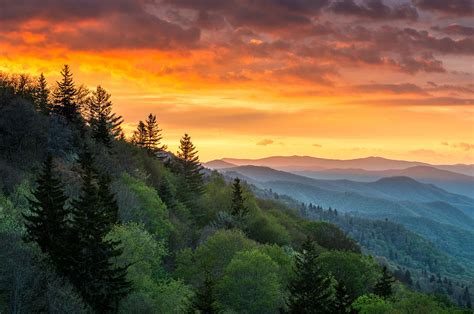 great smoky mountains north carolina scenic landscape