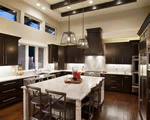 Dark cabinets light countertop ideas pictures remodel and decor