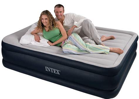 intex deluxe queen size comfort pillow rest raised
