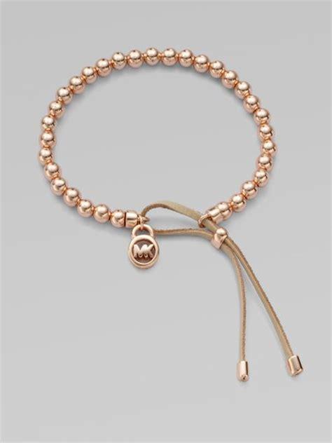 michael kors beaded bracelet michael kors leather accented beaded bracelet