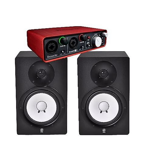 Speaker Yamaha Hs8 yamaha hs8 studio monitor speakers pair w focusrite reverb