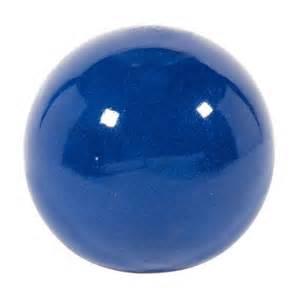 boule d 233 corative en terre cuite 233 maill 233 e bleu 216 20 cm
