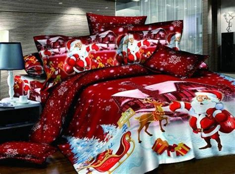 christmas themed bedding for a cozy bedroom