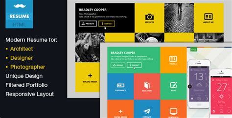 themeforest business cards cooper vcard portfolio metro html template by
