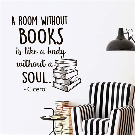 Books Like Room by Wall Decals Library Quotes Color The Walls Of Your House