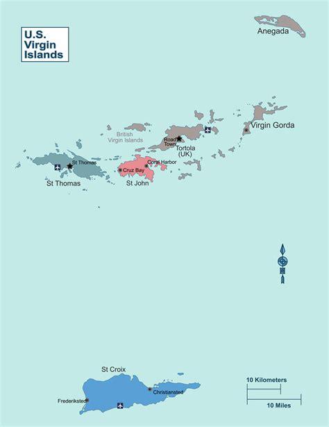 large regions map  virgin islands  virgin islands