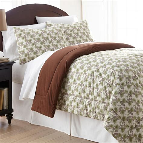 flannel comforter sets micro flannel pinecone king 4 piece comforter set