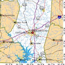 statesville carolina nc population data races