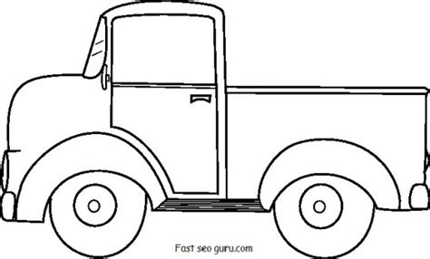 truck template 5 best images of up truck template printable