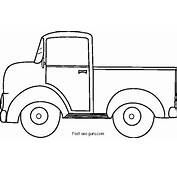 Printable Old Ford Pickup Coloring Pages
