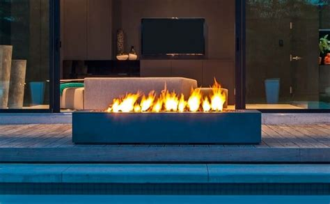 outdoor fireplace modern modern patio design with rectangular outdoor fireplace