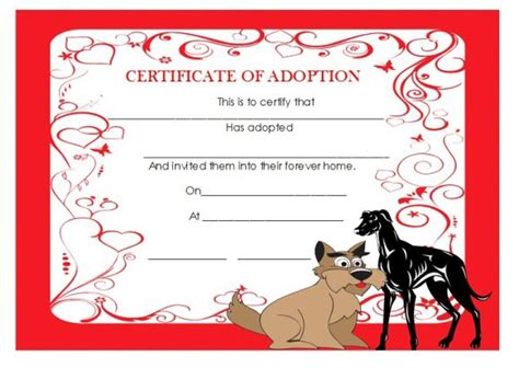 Blood Considers Adoption by Adoption Certificate Template 21 Free Certificates For