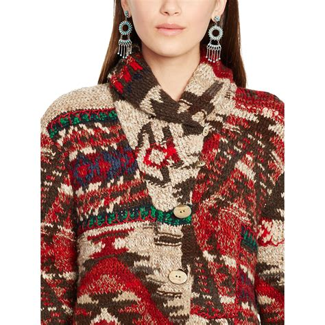 Patchwork Shawl - polo ralph patchwork shawl cardigan in lyst