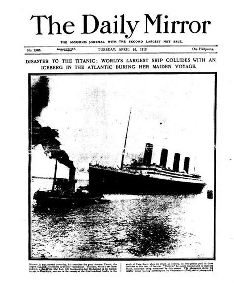 Daily Mirror Uk Front Page For 14 October 2017 was titanic s fate written in the scientists claim