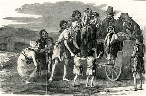 la gran hambruna en a child helps the poor during the irish potato famine