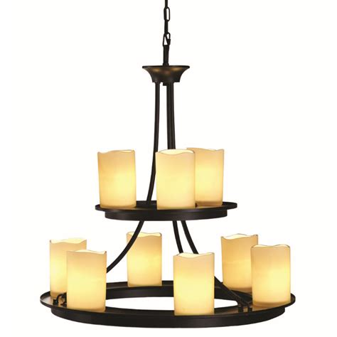Shop Allen Roth Harpwell 9 Light Oil Rubbed Bronze Lowes Allen Roth Chandelier