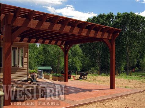 pergola completed post western timber frame