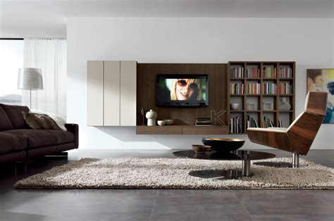 contemporary bookcases wall system by poliform motiq