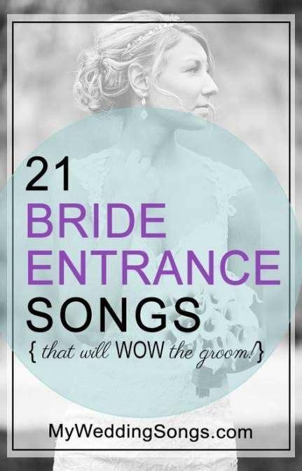 wedding ceremony entrance songs walks  ideas