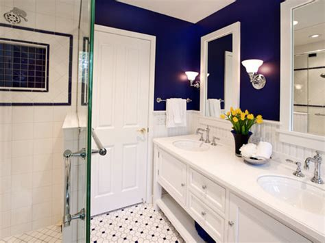 royal blue and white bathroom bathroom personality