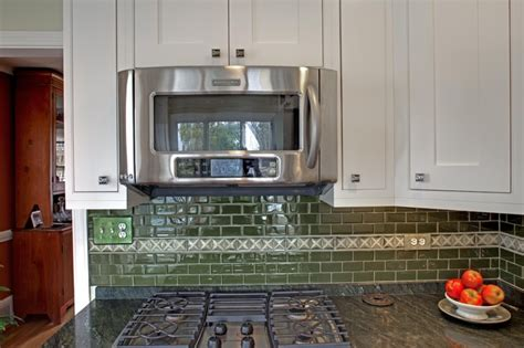 microwave vent kitchen traditional with apron sink