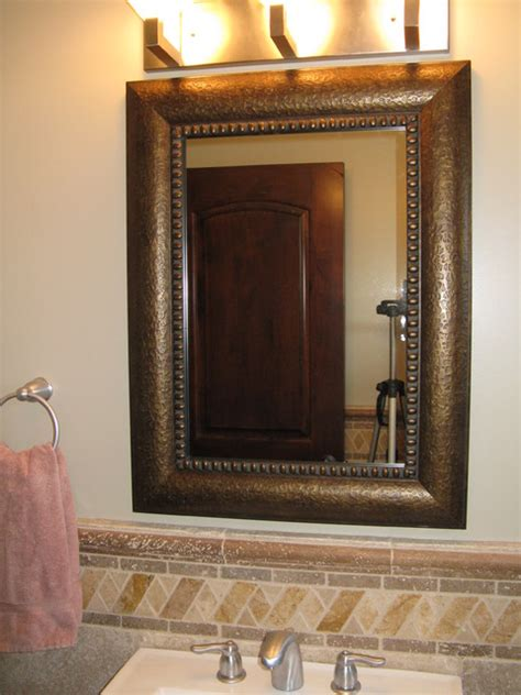 Mirror Frame Bathroom Mirror Frame Kit Traditional Bathroom Mirrors Salt Lake City By Reflected Design