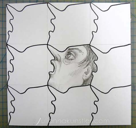 how to make a tessellation template with an index card tessellations lesson
