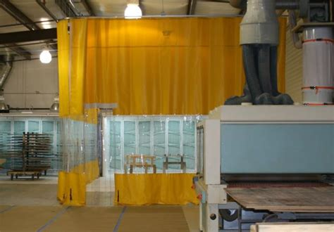 dust curtain wall woodworking curtains dust control curtains industrial